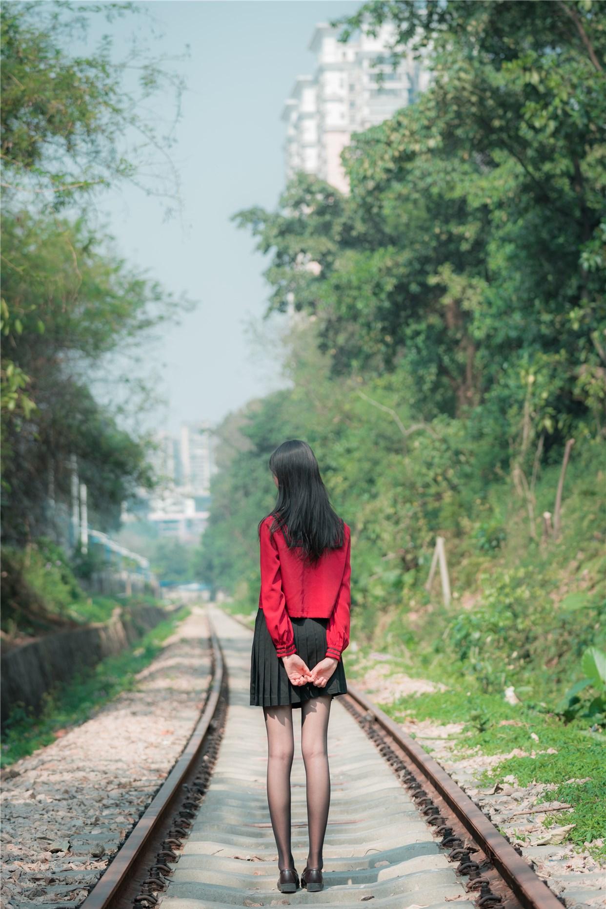 【兔玩映画】奔跑的红色JK 兔玩映画 第9张