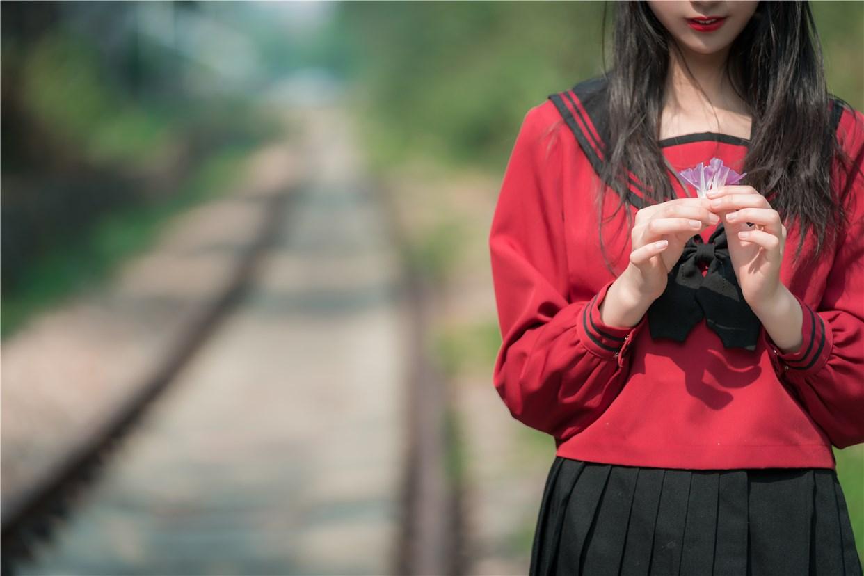 【兔玩映画】奔跑的红色JK 兔玩映画 第12张
