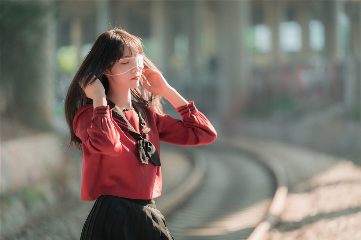 【兔玩映画】奔跑的红色JK 兔玩映画 第6张