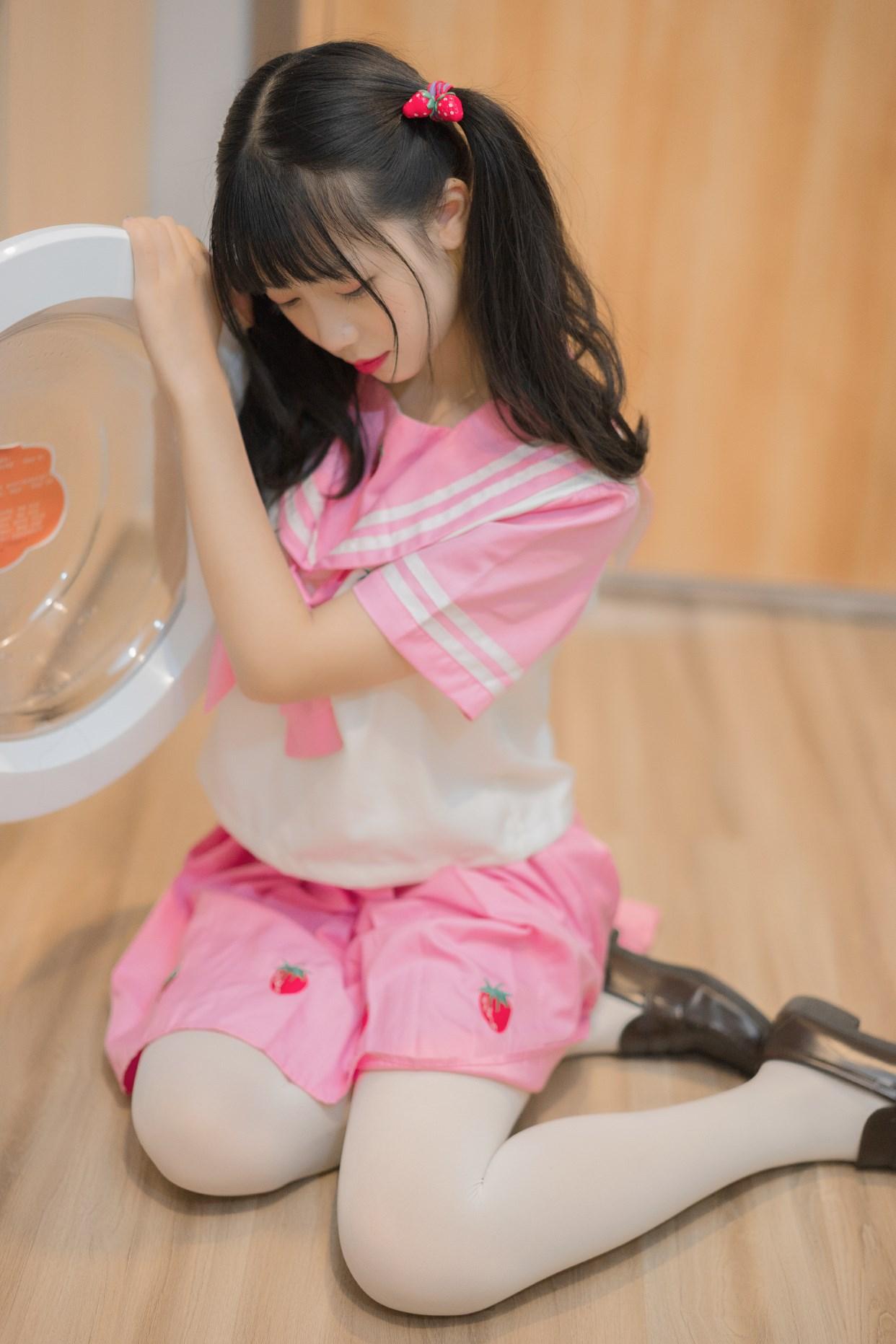 【兔玩映画】粉色草莓JK 兔玩映画 第35张