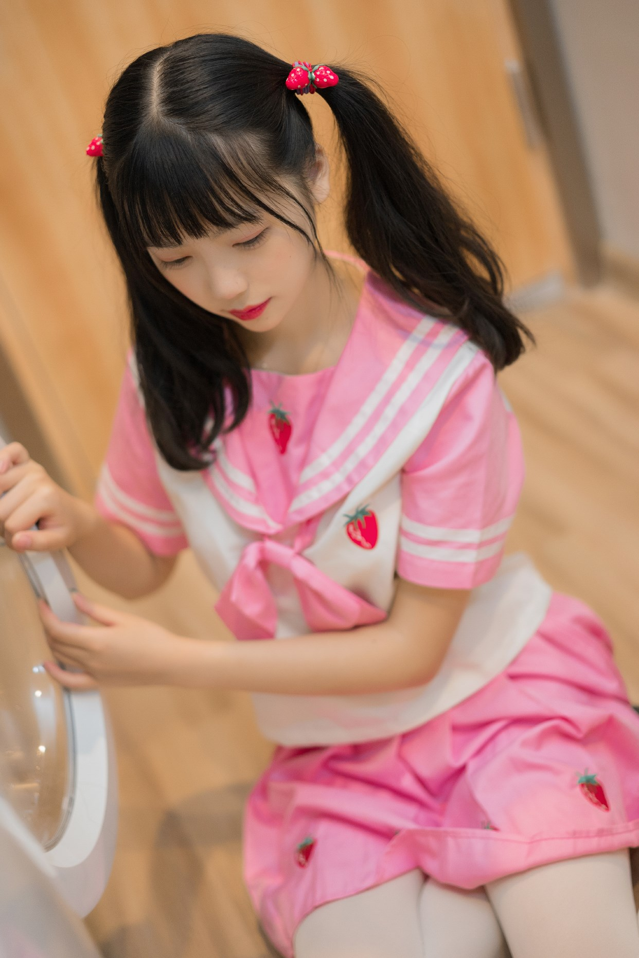 【兔玩映画】粉色草莓JK 兔玩映画 第37张