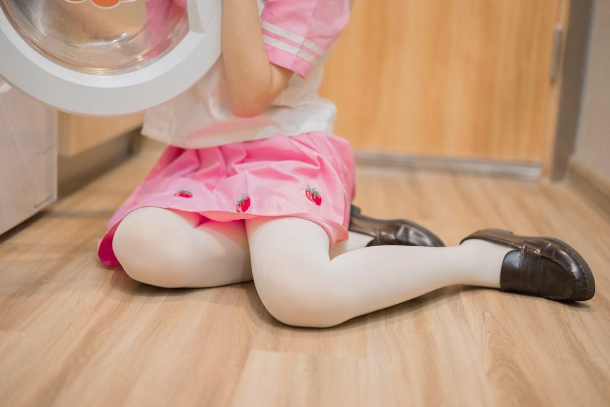 【兔玩映画】粉色草莓JK 兔玩映画 第33张