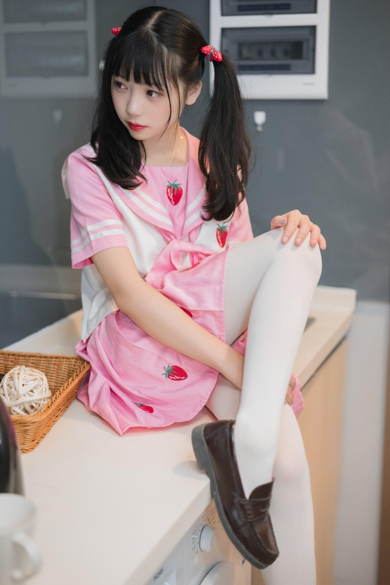 【兔玩映画】粉色草莓JK 兔玩映画 第30张