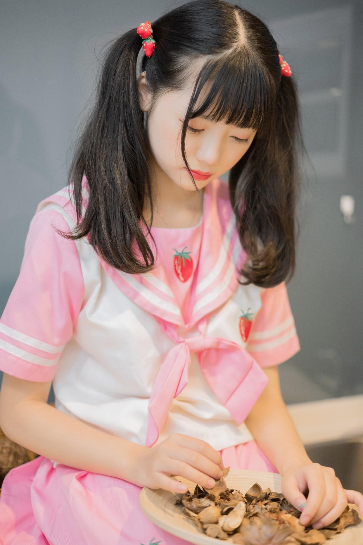 【兔玩映画】粉色草莓JK 兔玩映画 第26张