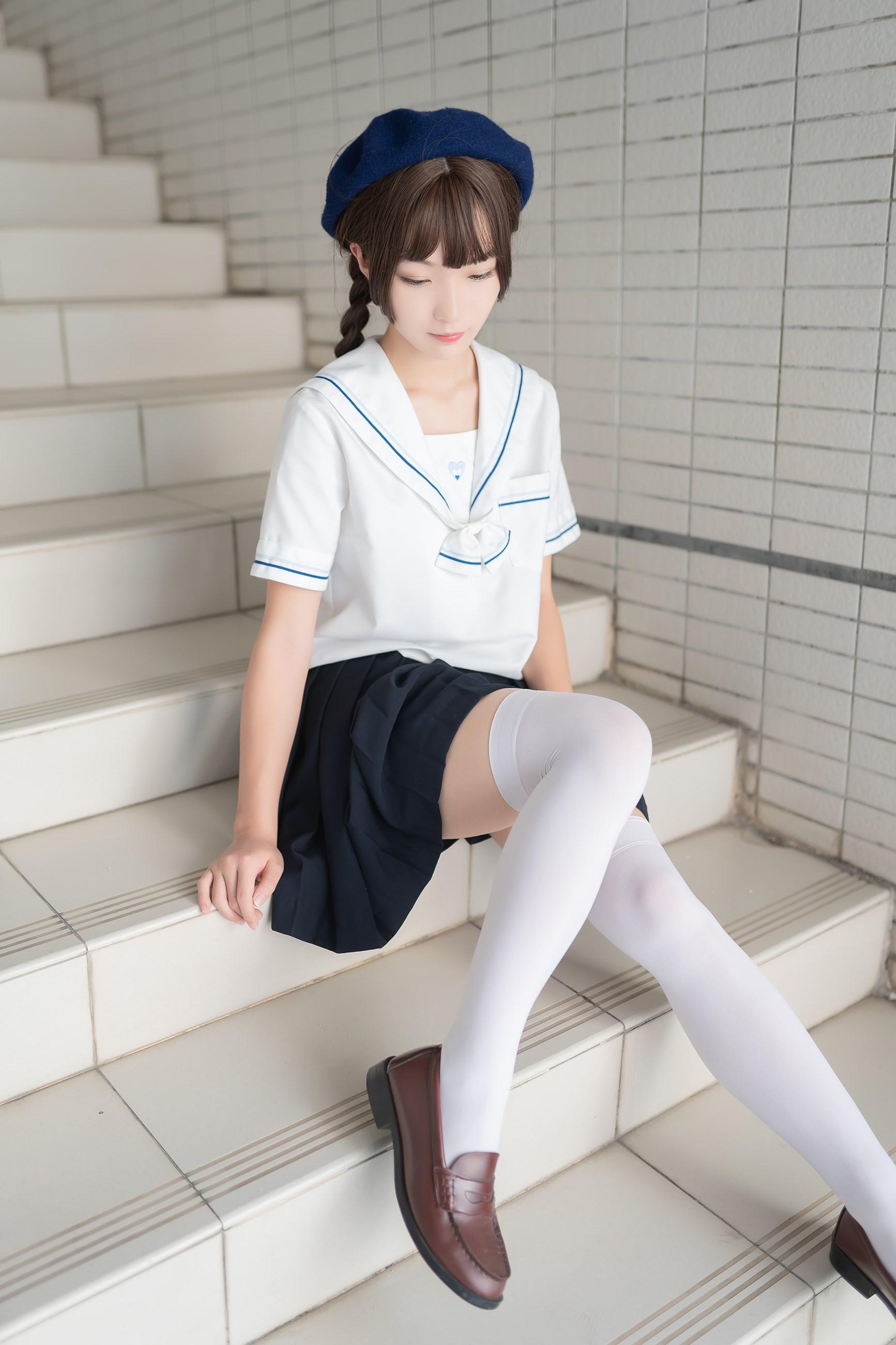 【兔玩映画】楼梯上的白丝少女 兔玩映画 第16张