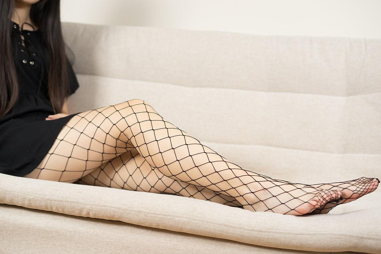 【兔玩映画】黑色网袜 兔玩映画 第8张