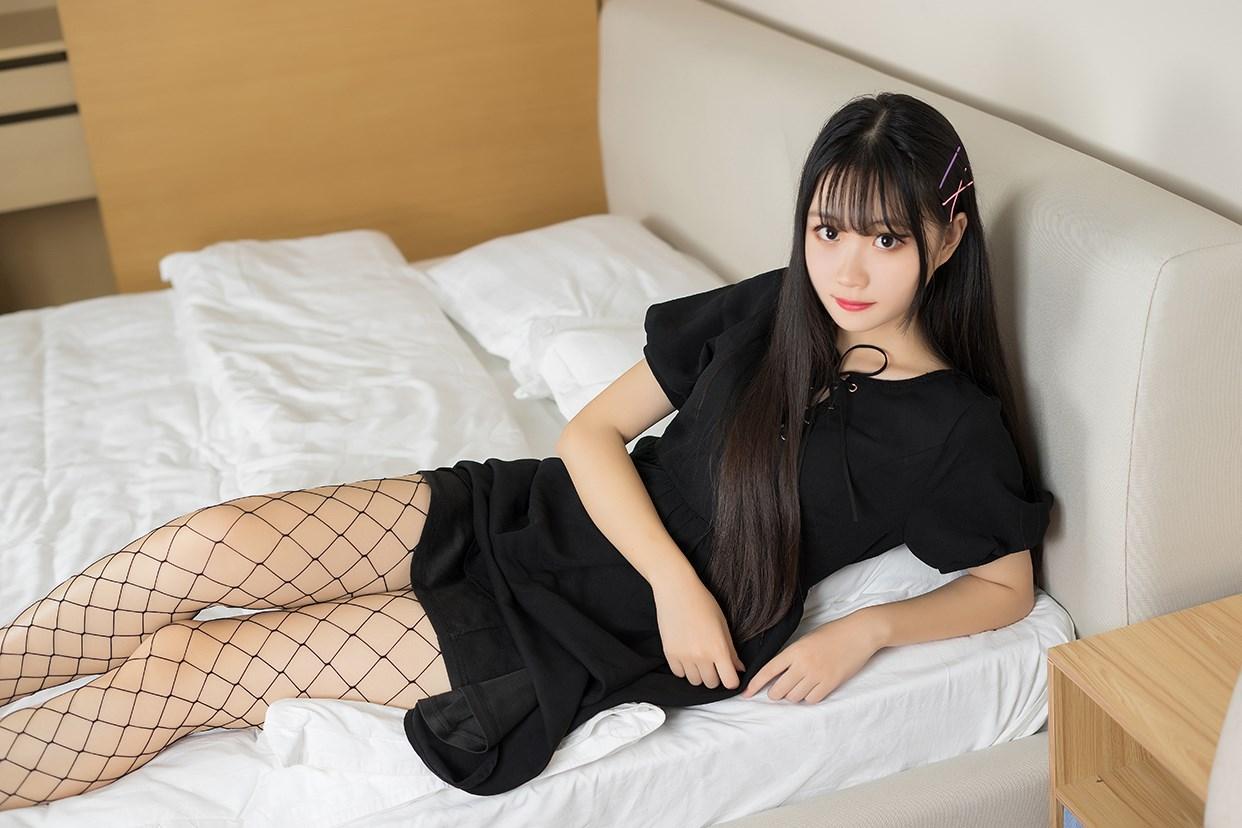 【兔玩映画】黑色网袜 兔玩映画 第10张