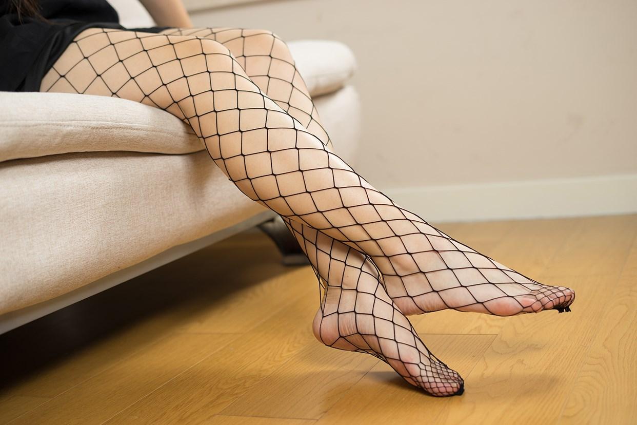 【兔玩映画】黑色网袜 兔玩映画 第13张