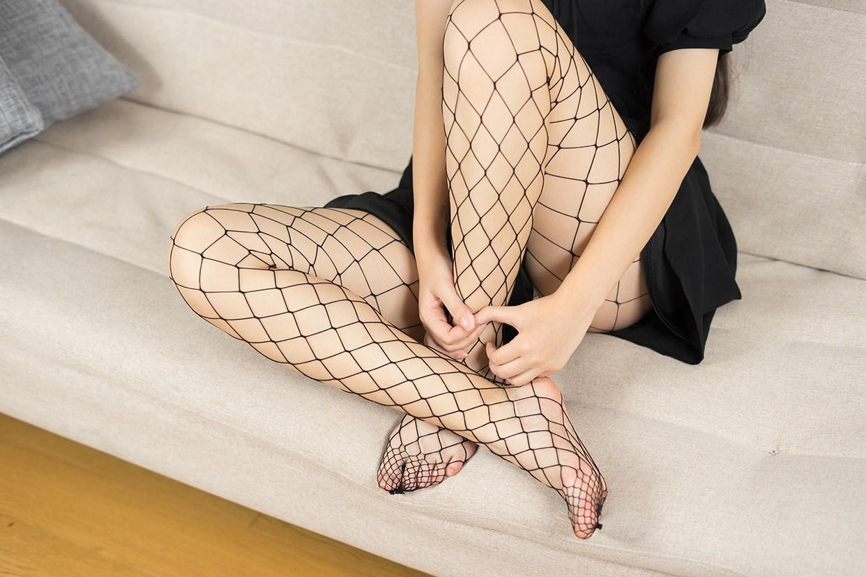 【兔玩映画】黑色网袜 兔玩映画 第14张