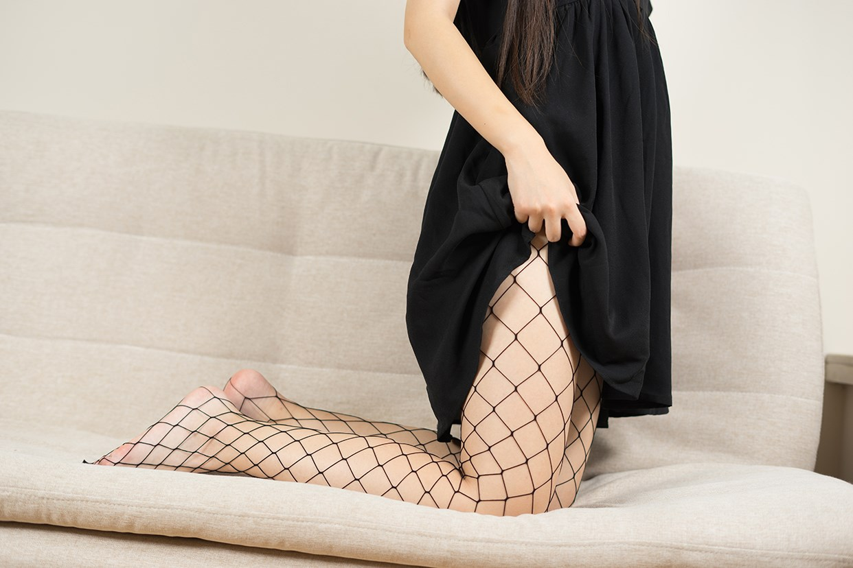 【兔玩映画】黑色网袜 兔玩映画 第23张