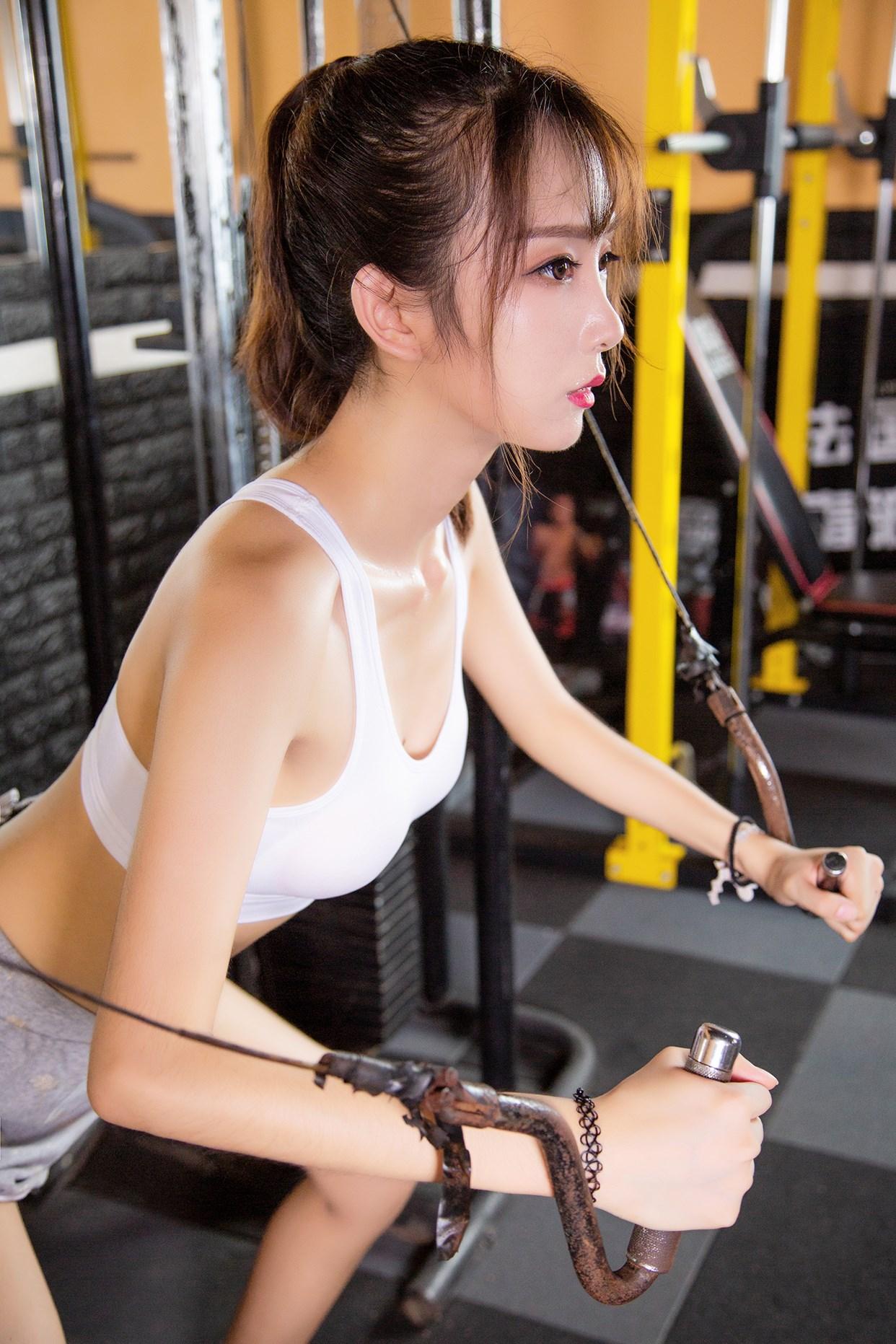 【兔玩映画】健身房的少女 兔玩映画 第29张