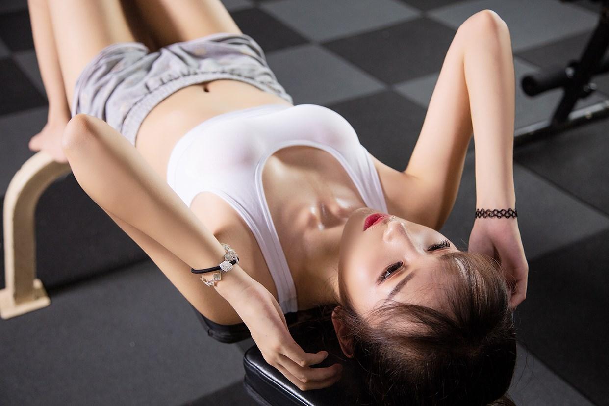 【兔玩映画】健身房的少女 兔玩映画 第32张
