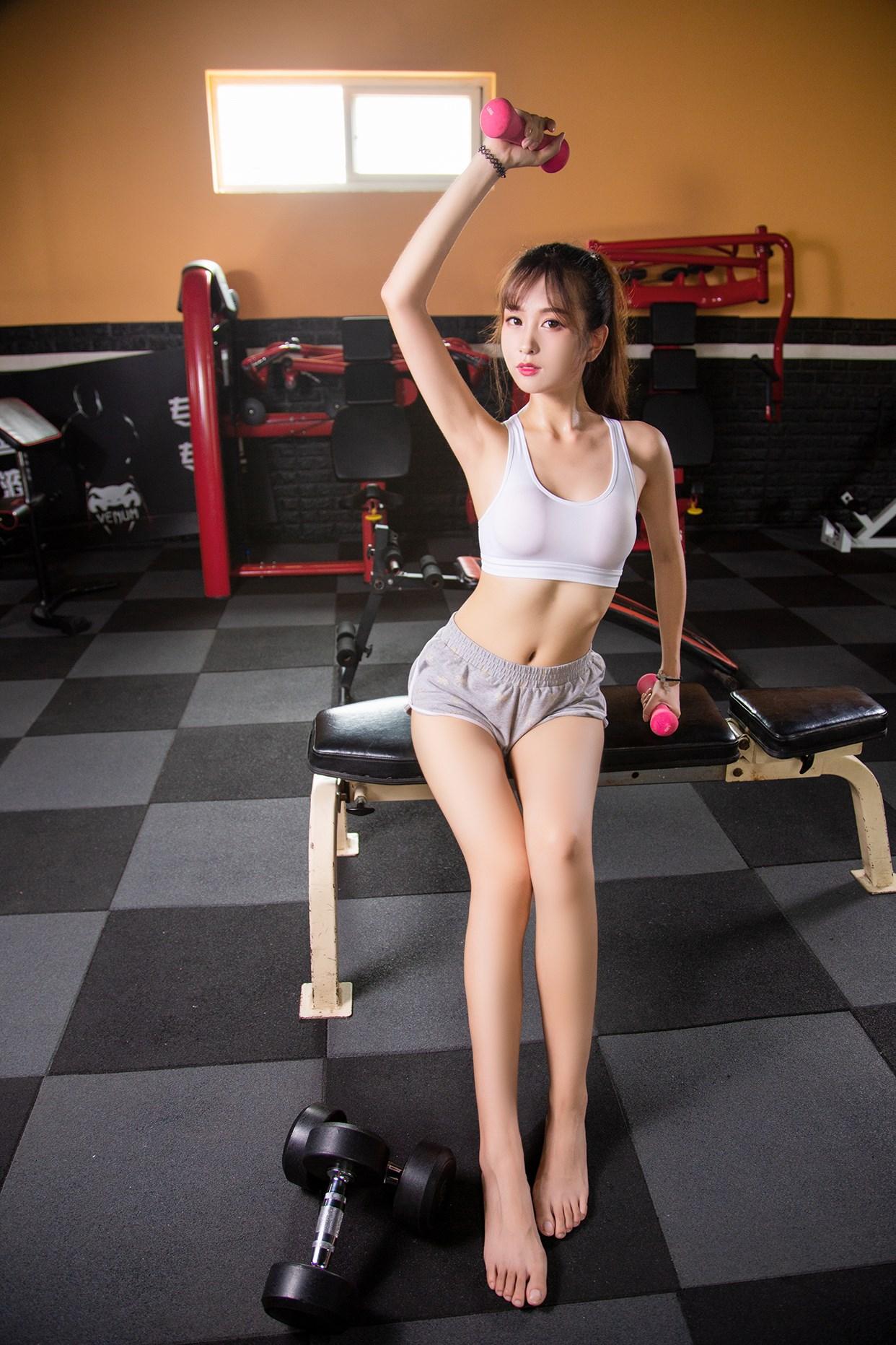 【兔玩映画】健身房的少女 兔玩映画 第33张