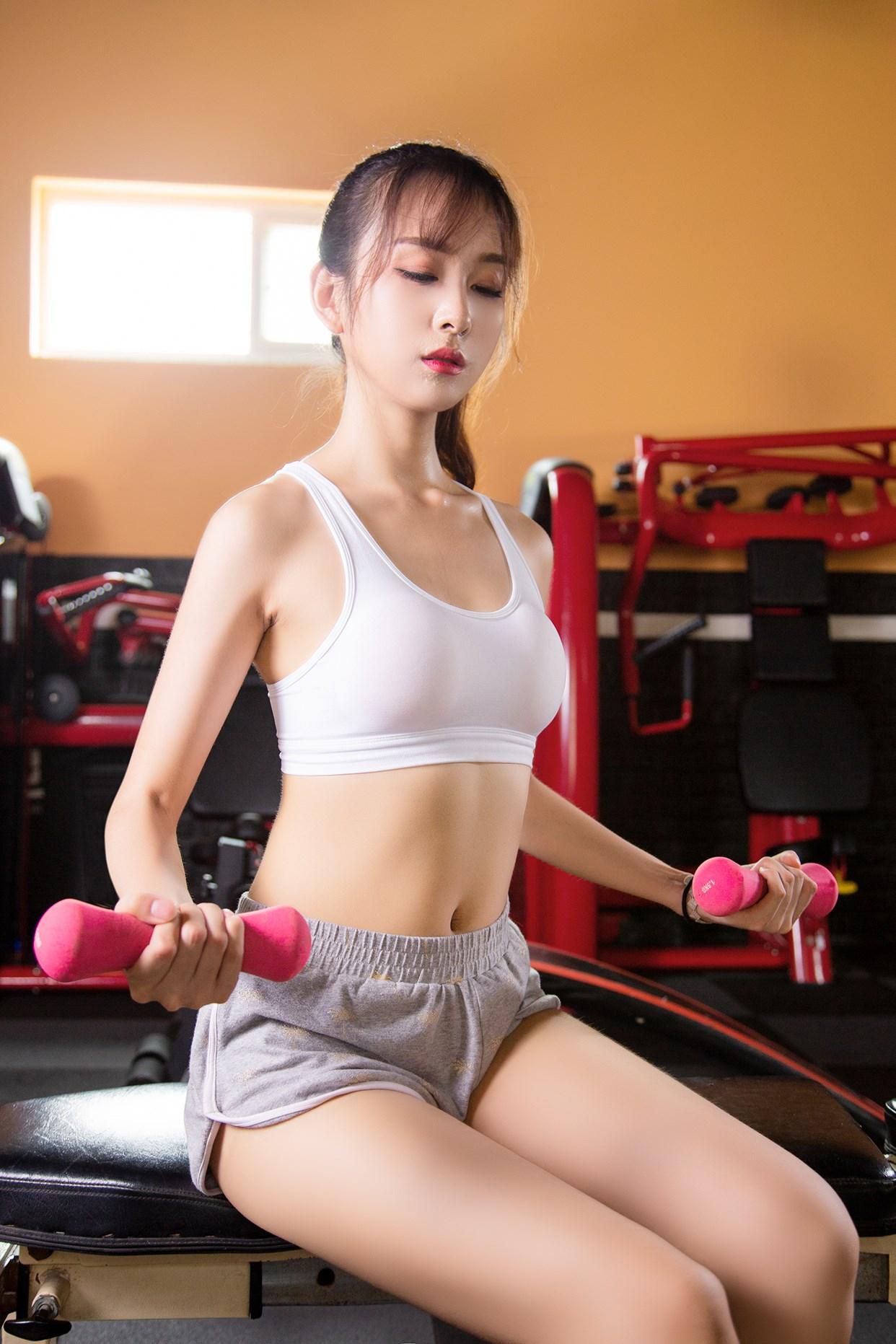 【兔玩映画】健身房的少女 兔玩映画 第34张