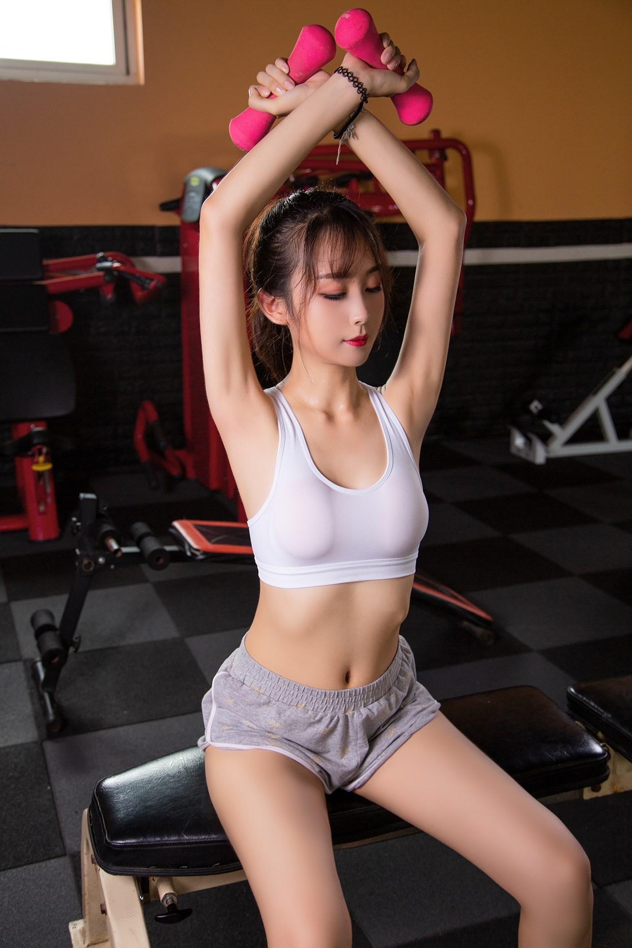 【兔玩映画】健身房的少女 兔玩映画 第38张