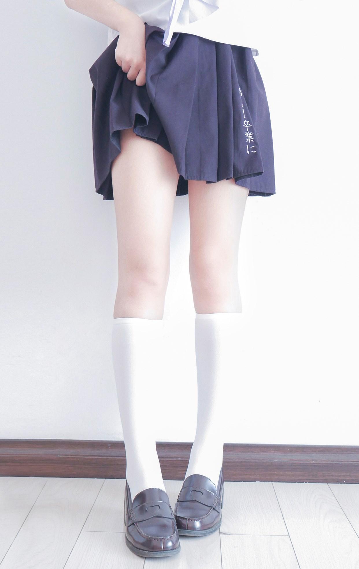 【兔玩映画】白白白半筒袜 兔玩映画 第13张