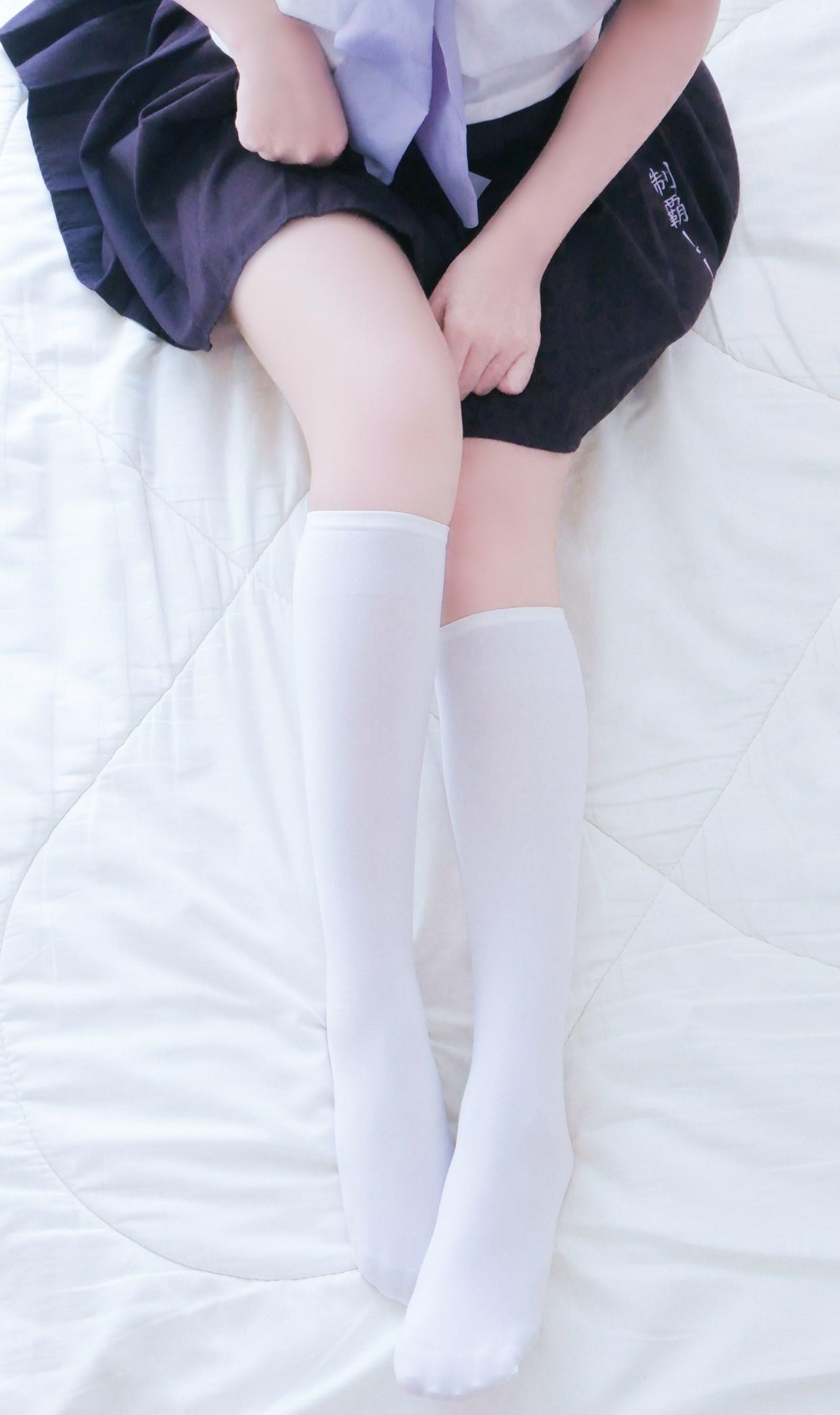【兔玩映画】白白白半筒袜 兔玩映画 第18张