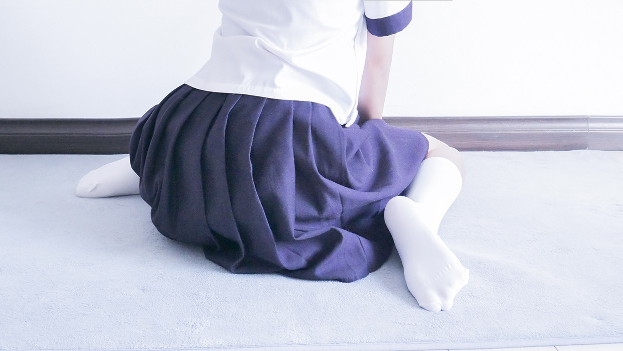 【兔玩映画】白白白半筒袜 兔玩映画 第26张