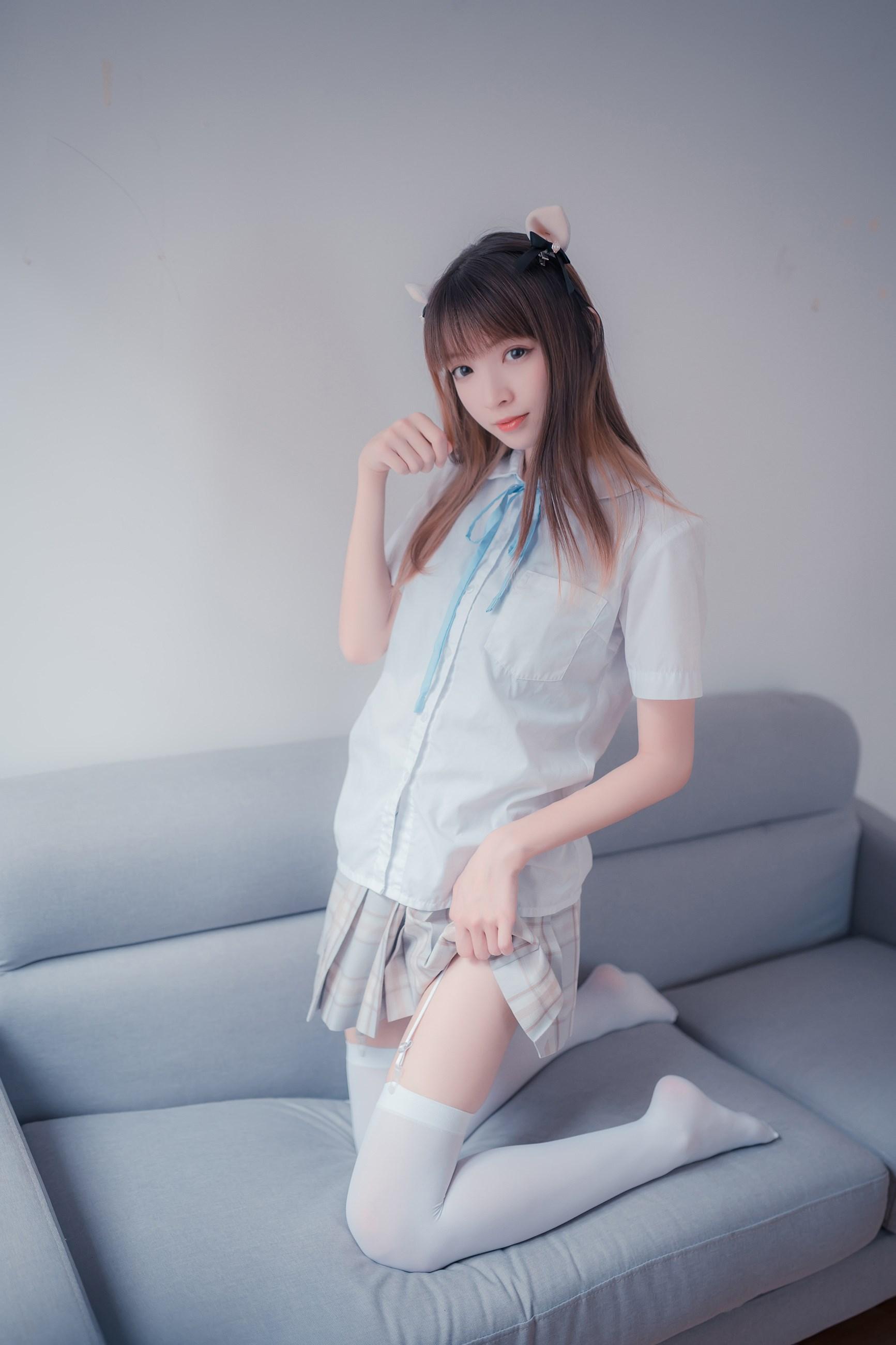 【兔玩映画】沙发上的JK少女 兔玩映画 第9张