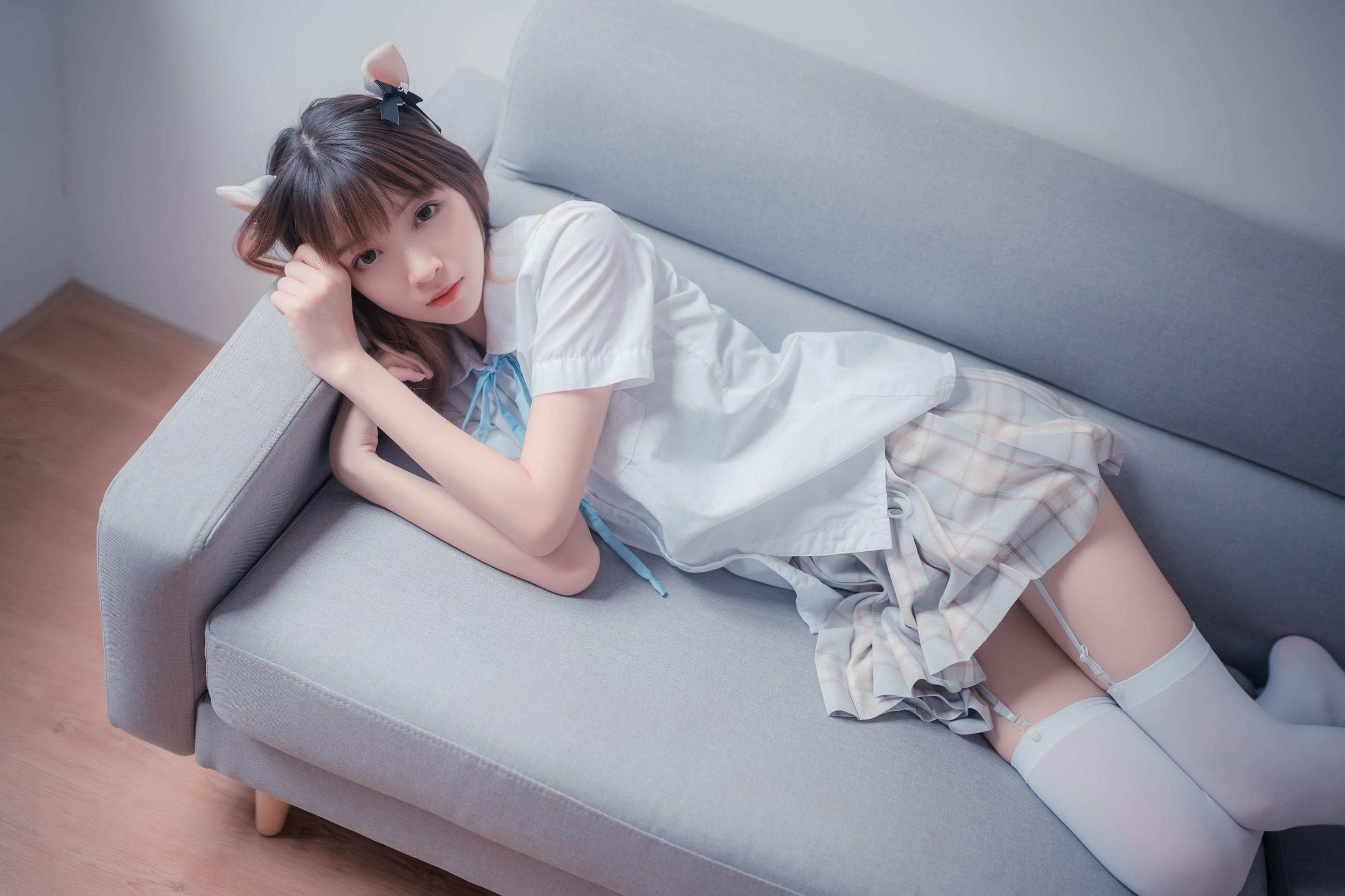【兔玩映画】沙发上的JK少女 兔玩映画 第26张