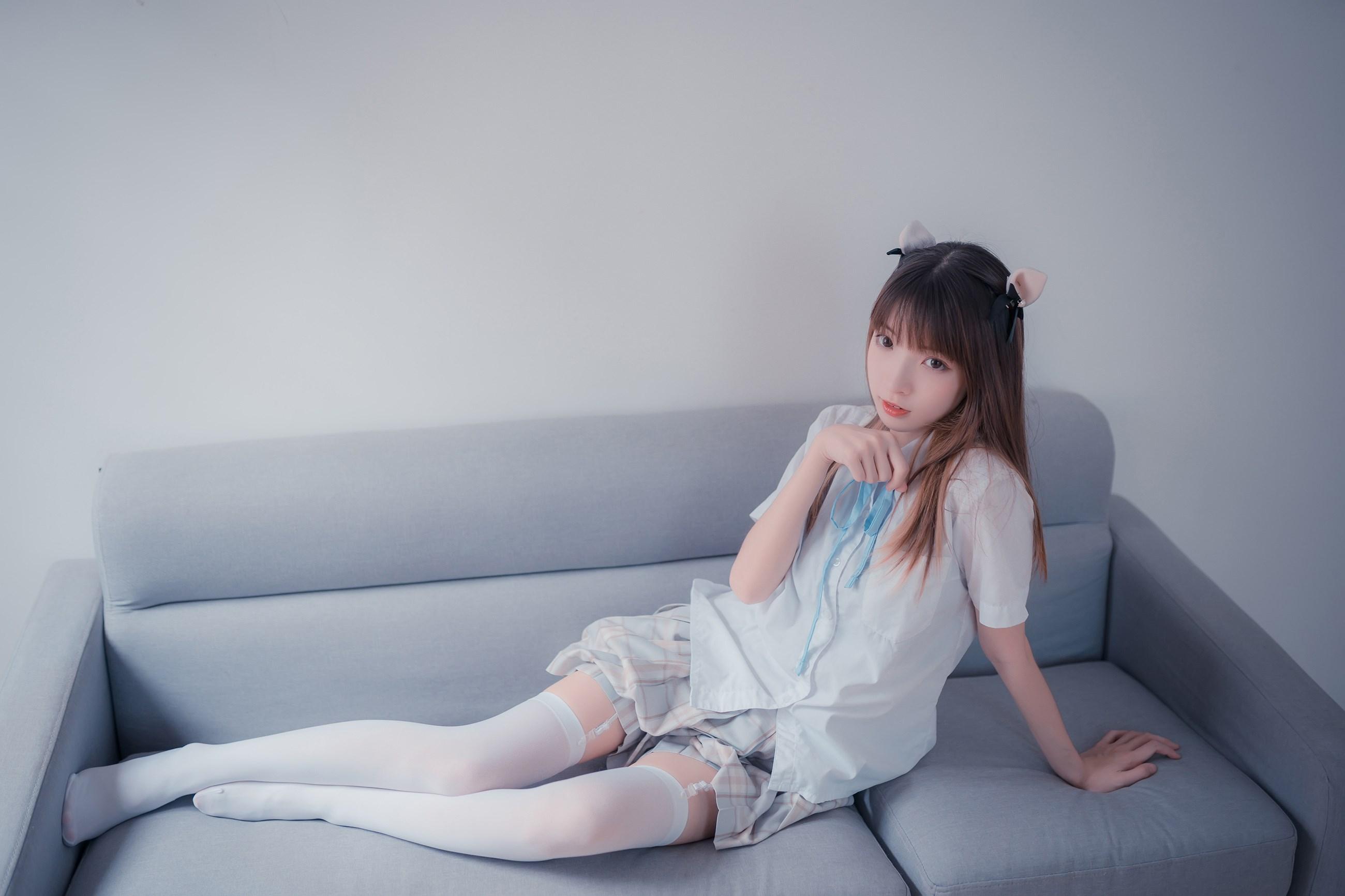 【兔玩映画】沙发上的JK少女 兔玩映画 第34张