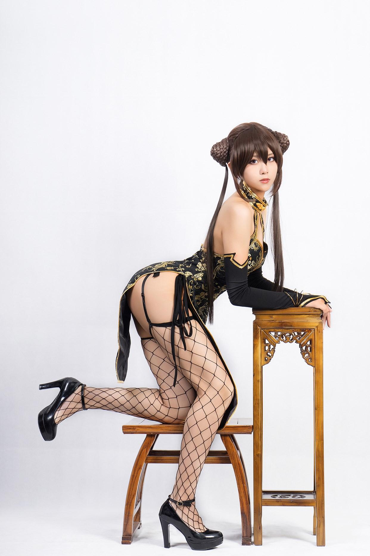 【兔玩映画】旗袍果腿和网袜 兔玩映画 第26张