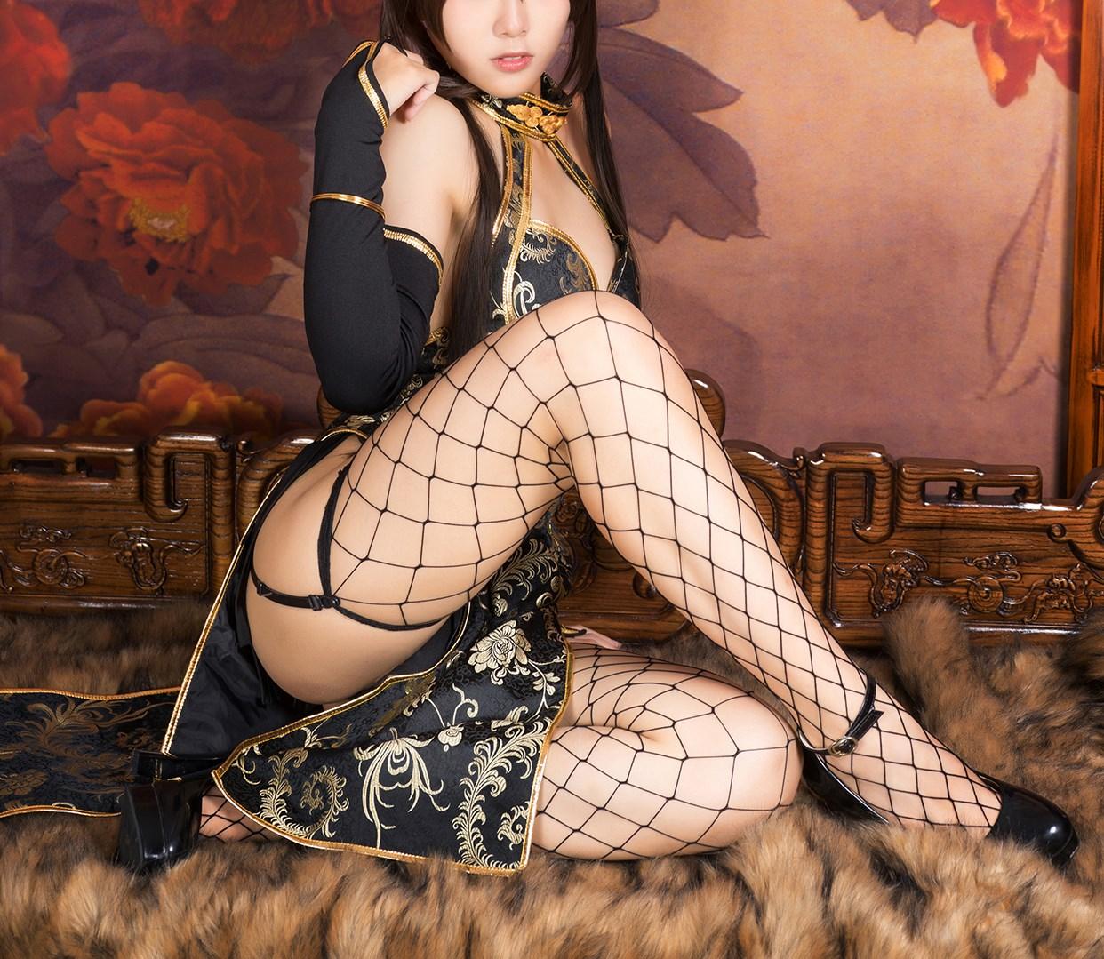 【兔玩映画】旗袍果腿和网袜 兔玩映画 第30张