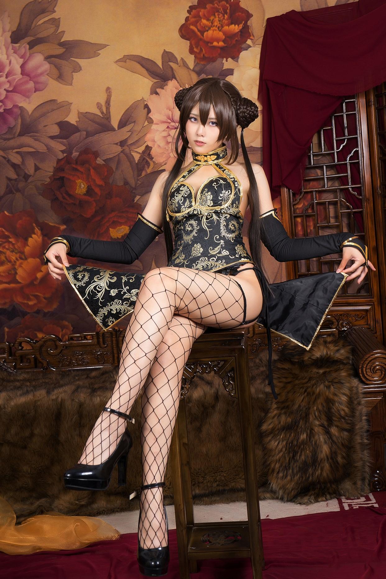 【兔玩映画】旗袍果腿和网袜 兔玩映画 第31张