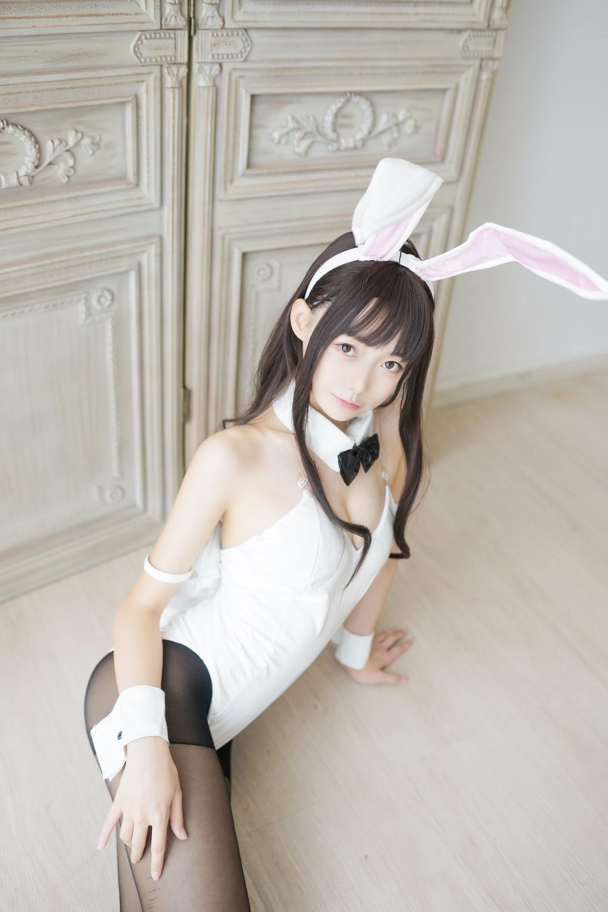 【兔玩映画】兔女郎vol.17-白兔 兔玩映画 第3张