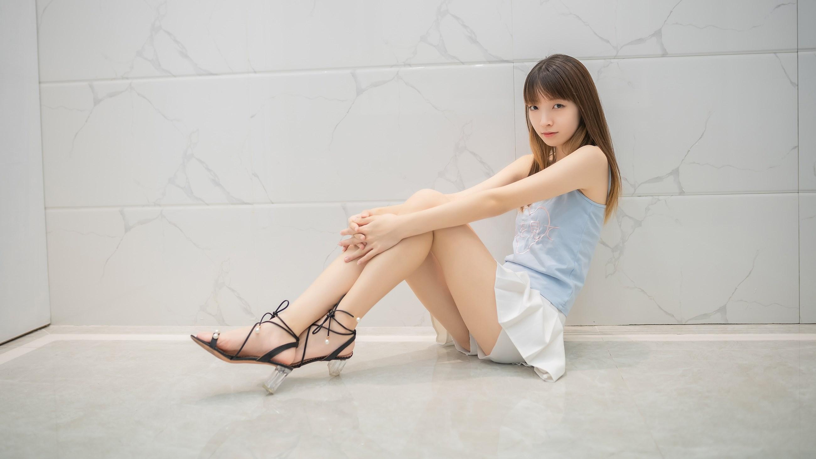 【兔玩映画】白裙果腿少女 兔玩映画 第20张