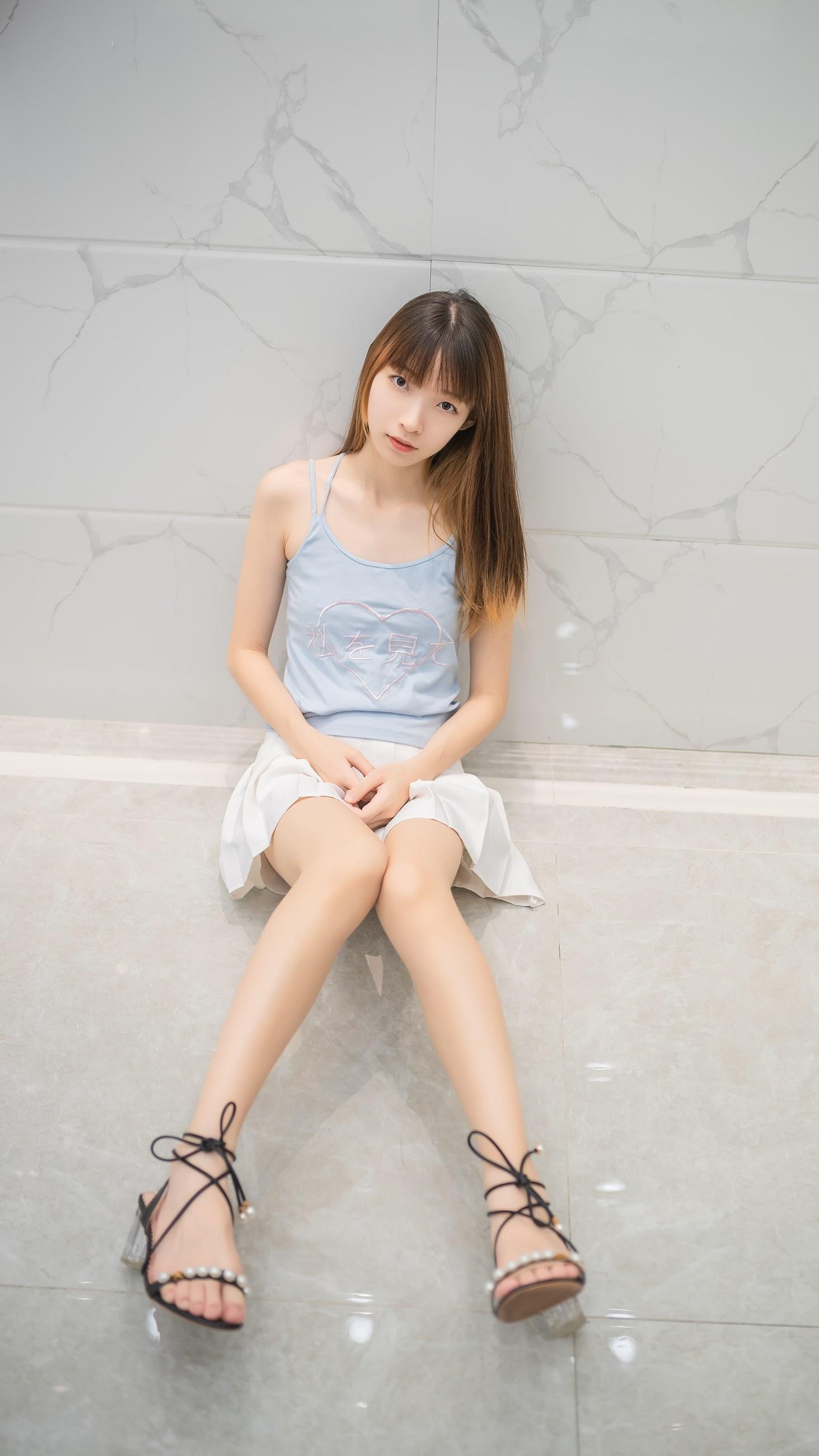 【兔玩映画】白裙果腿少女 兔玩映画 第16张