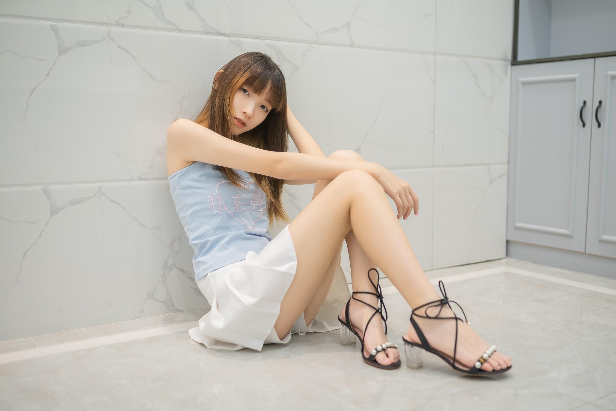 【兔玩映画】白裙果腿少女 兔玩映画 第14张