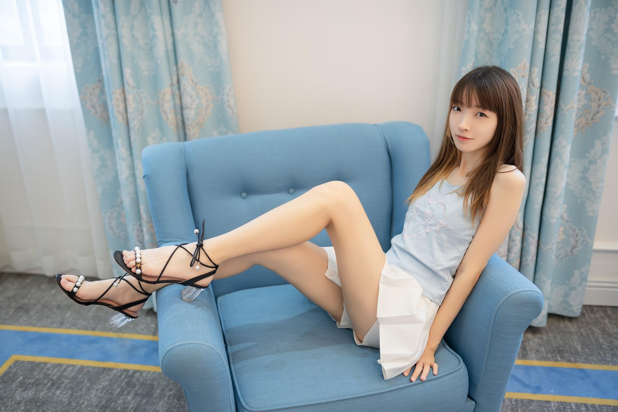 【兔玩映画】白裙果腿少女 兔玩映画 第9张