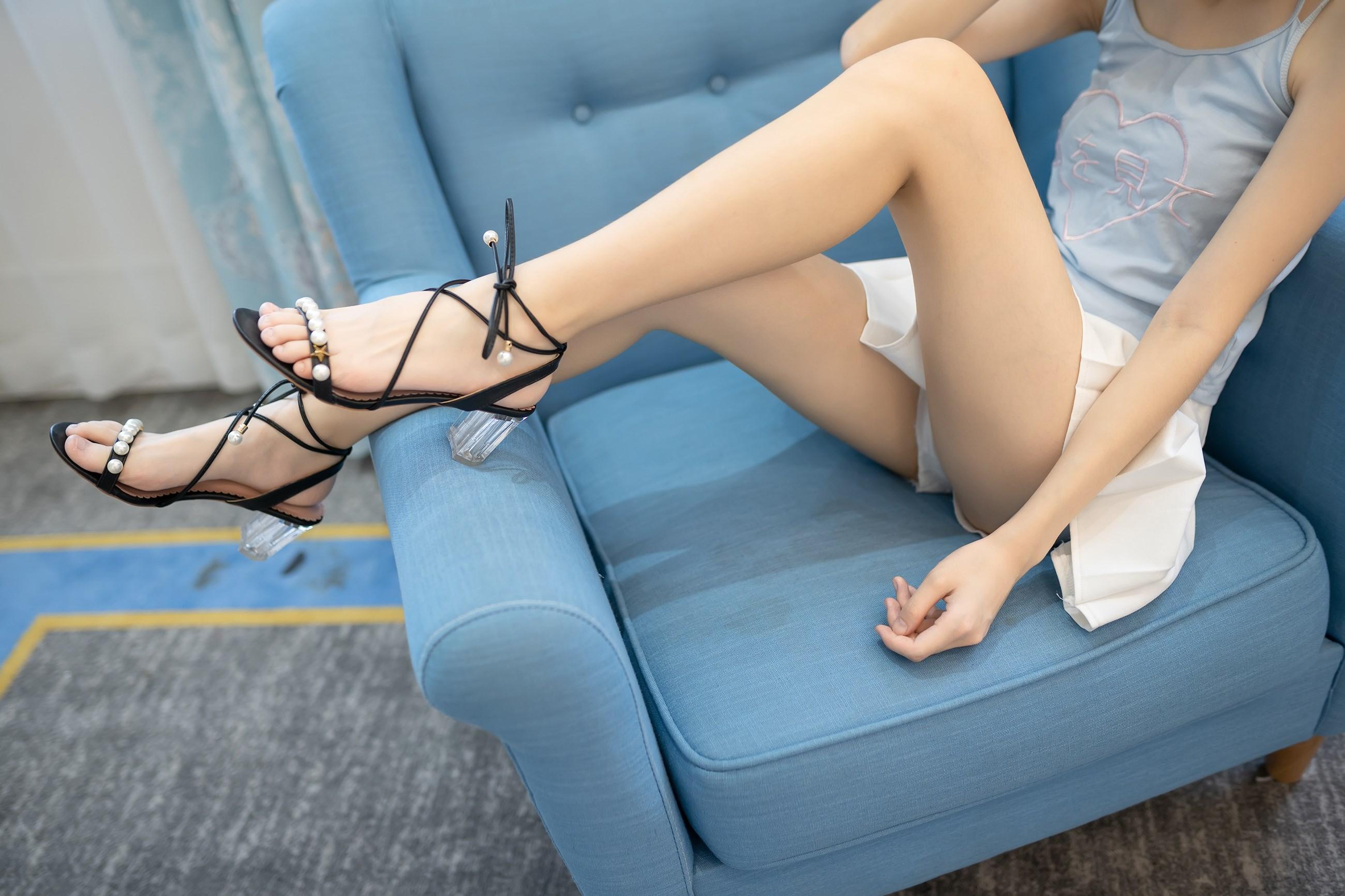 【兔玩映画】白裙果腿少女 兔玩映画 第7张