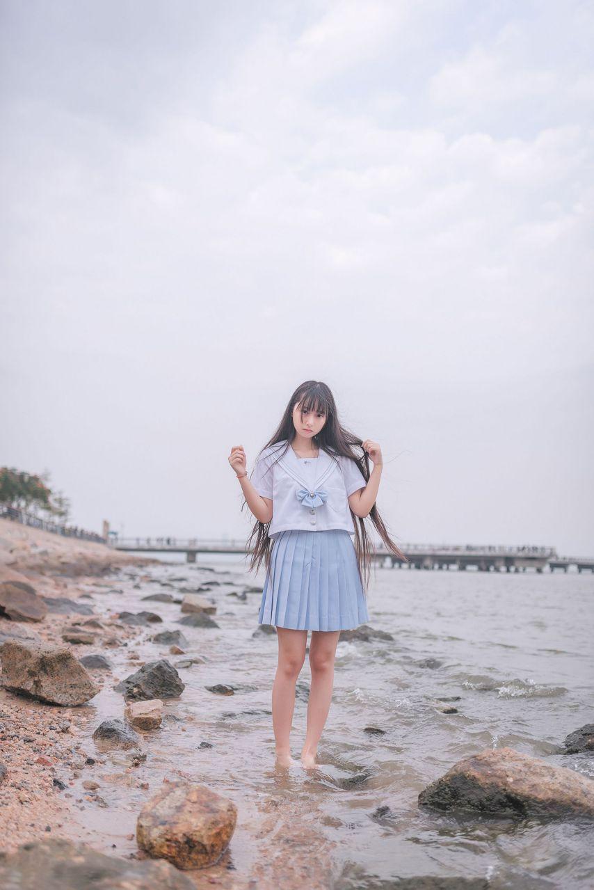 【风之领域】风之领域写真 NO.155 海边和森林里的水手服少女 [51P-145MB] 风之领域 第2张