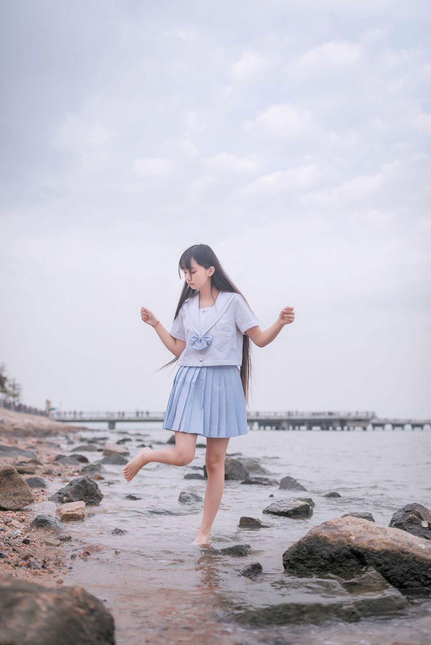 【风之领域】风之领域写真 NO.155 海边和森林里的水手服少女 [51P-145MB] 风之领域 第3张