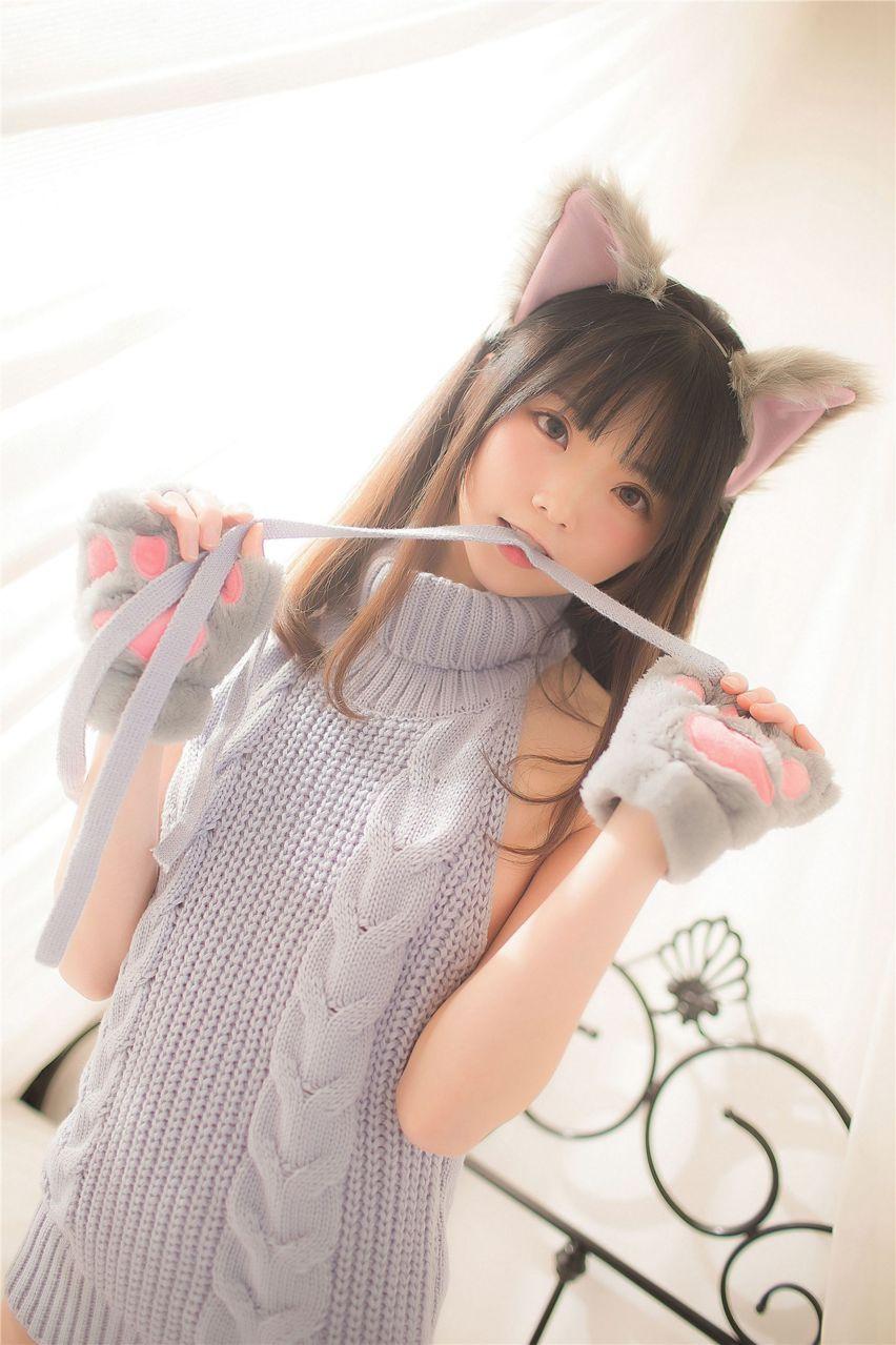 【风之领域】风之领域写真 NO.151 穿露背毛衣的猫系少女 [34P-171MB] 风之领域 第3张