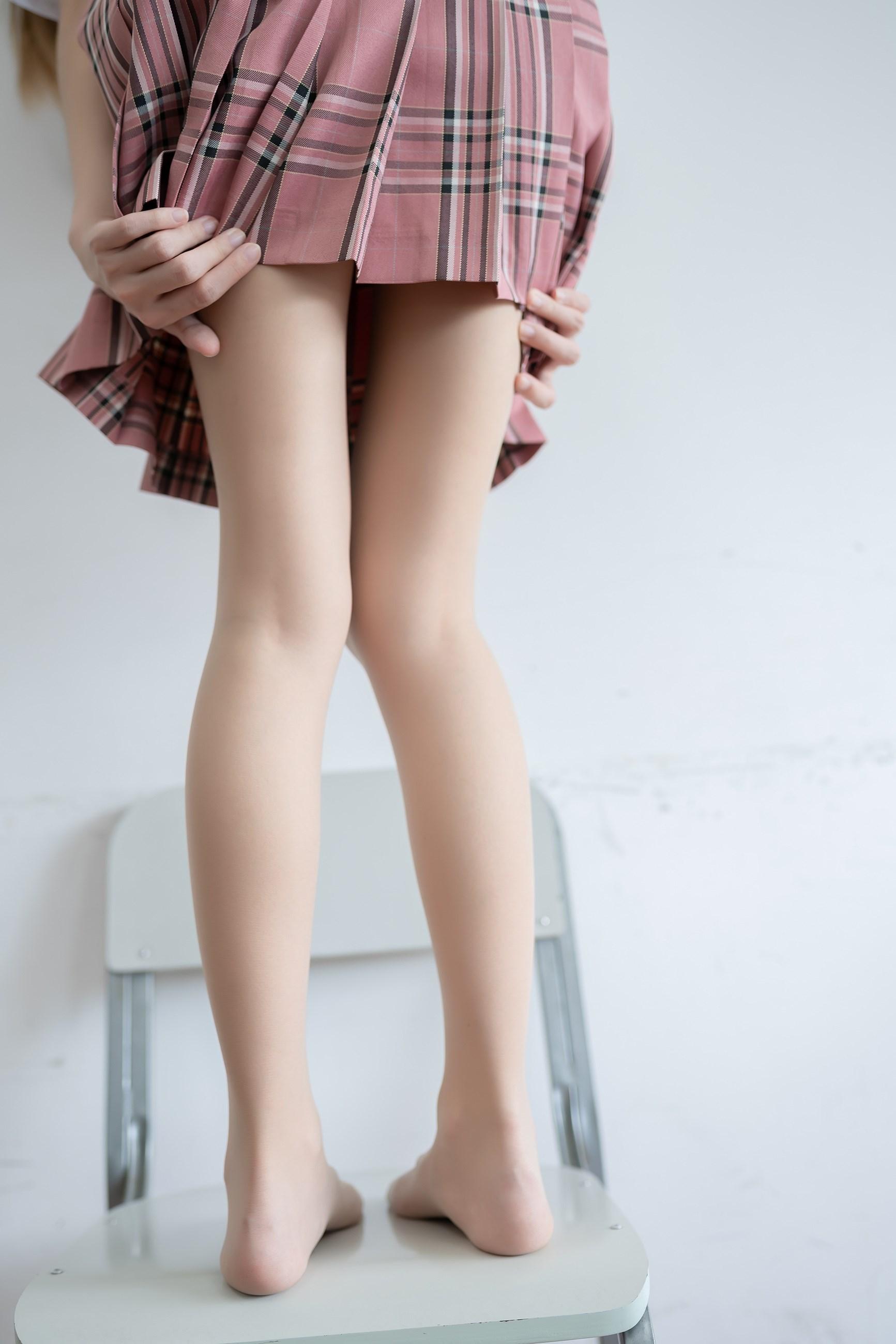 【兔玩映画】粉色格裙少女 兔玩映画 第38张