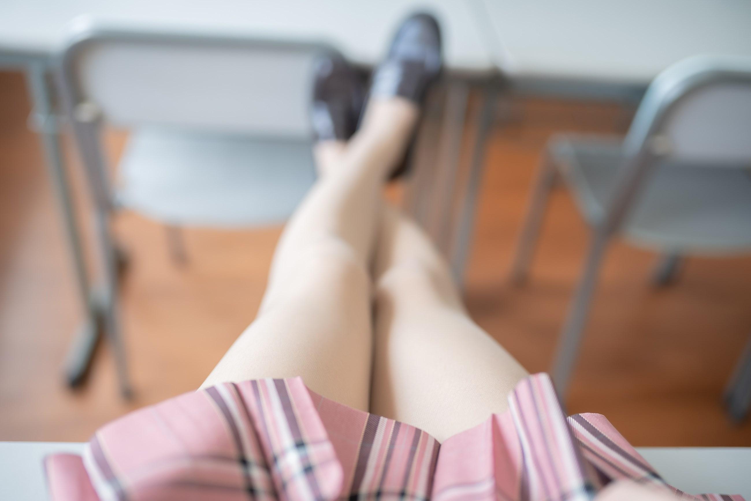 【兔玩映画】粉色格裙少女 兔玩映画 第9张