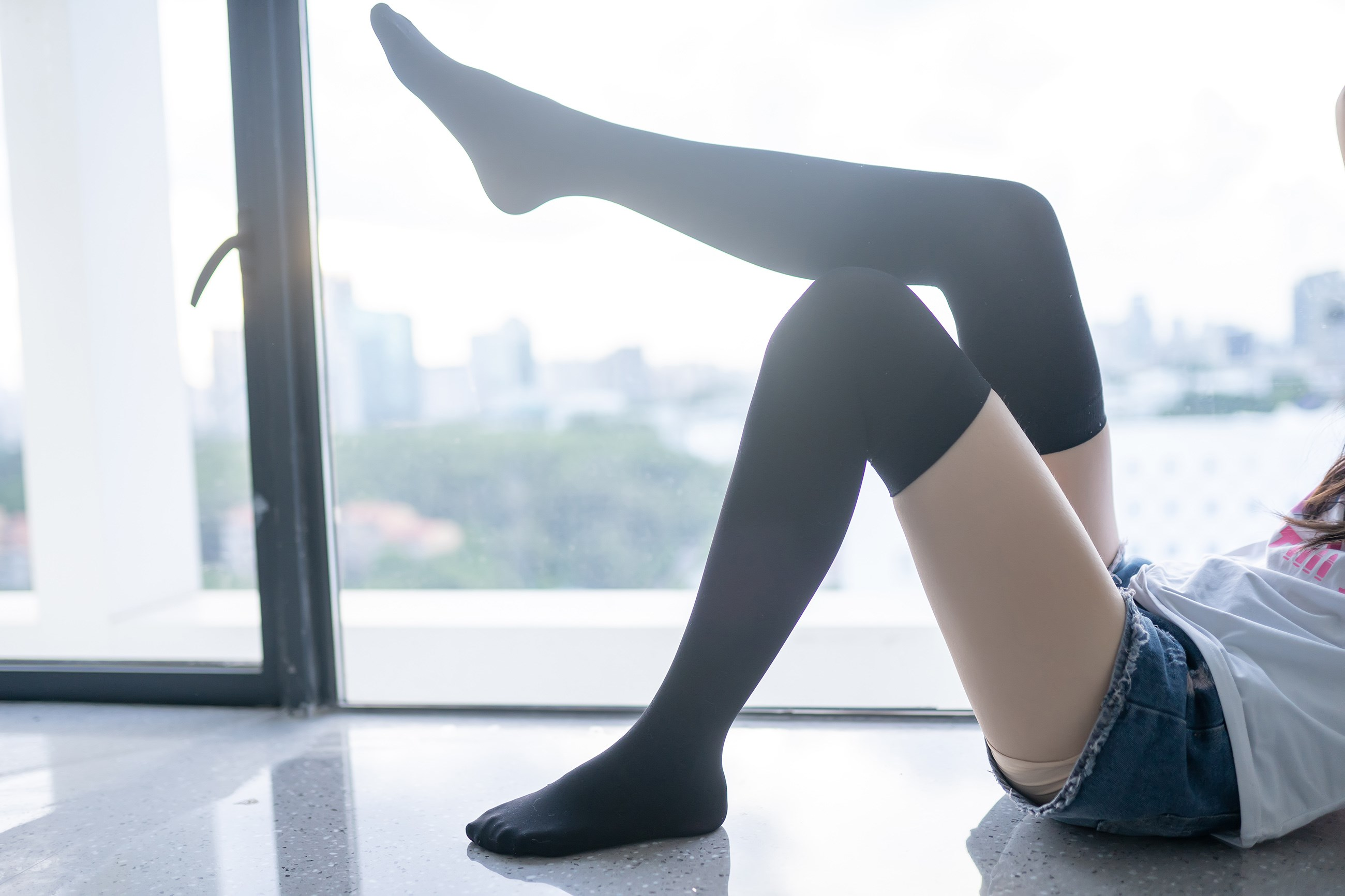【兔玩映画】黑色半筒袜 兔玩映画 第21张