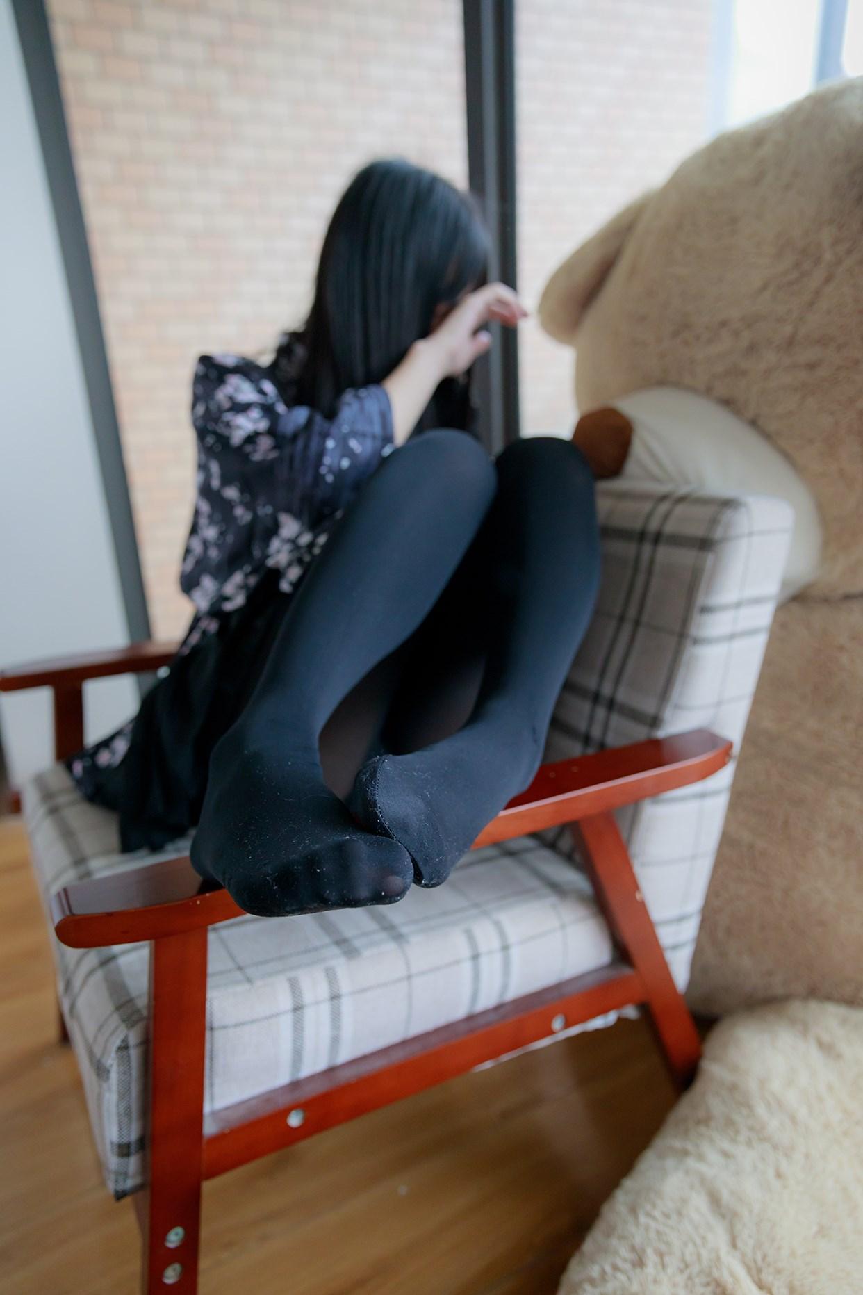 【兔玩映画】椅上的黑丝少女 兔玩映画 第41张