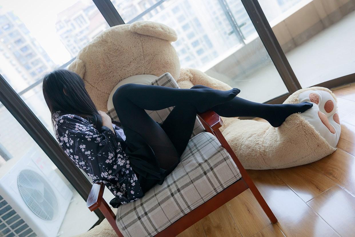 【兔玩映画】椅上的黑丝少女 兔玩映画 第36张