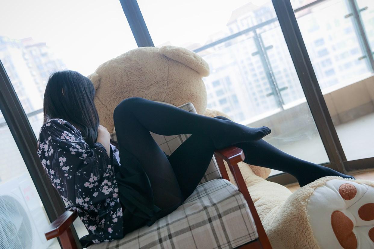 【兔玩映画】椅上的黑丝少女 兔玩映画 第35张