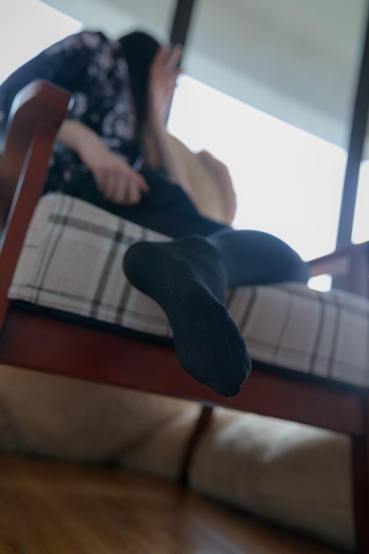 【兔玩映画】椅上的黑丝少女 兔玩映画 第33张
