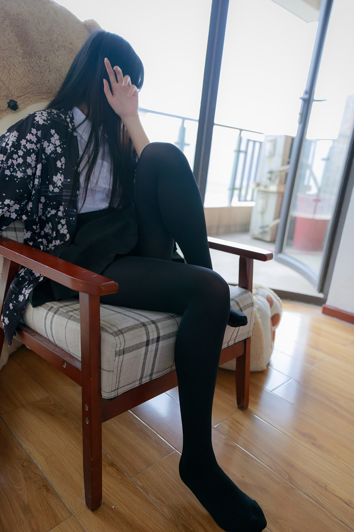 【兔玩映画】椅上的黑丝少女 兔玩映画 第27张