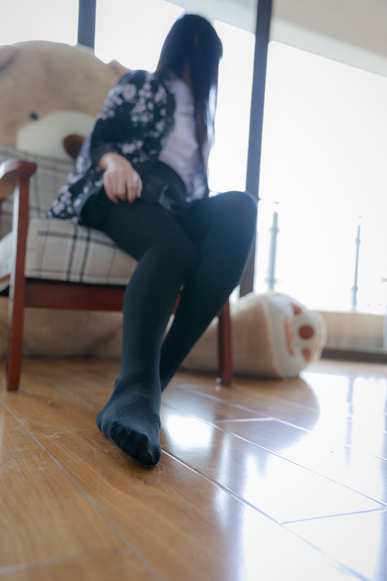 【兔玩映画】椅上的黑丝少女 兔玩映画 第14张