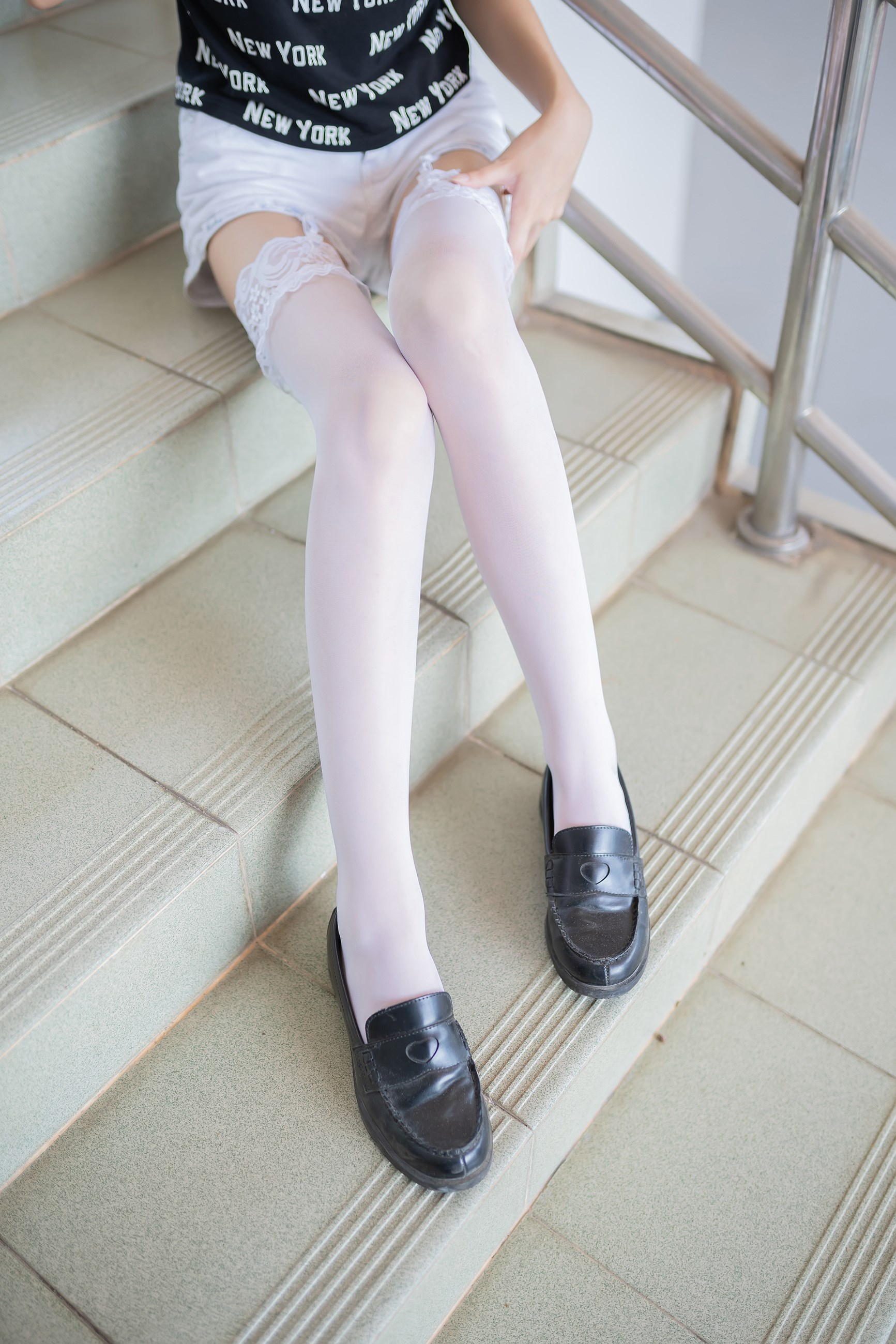 【兔玩映画】白丝吊带袜 兔玩映画 第39张