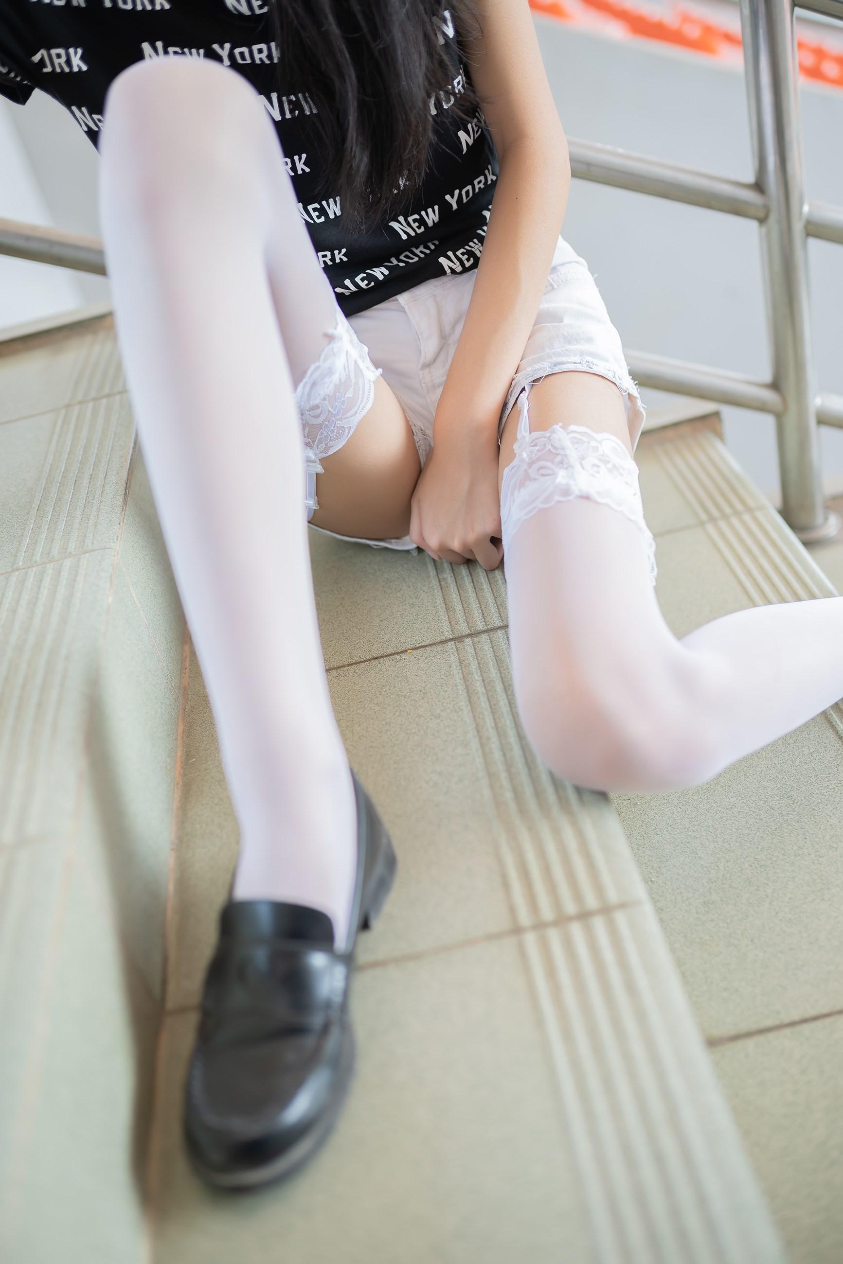 【兔玩映画】白丝吊带袜 兔玩映画 第38张
