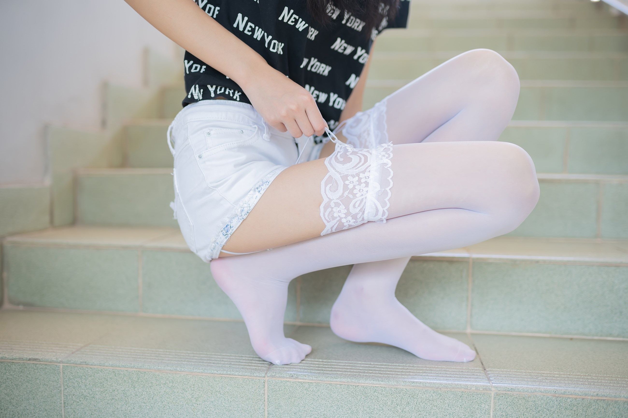 【兔玩映画】白丝吊带袜 兔玩映画 第17张