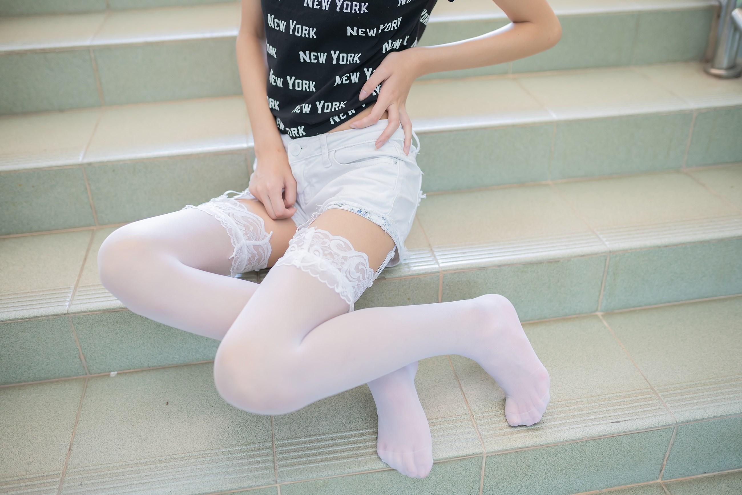 【兔玩映画】白丝吊带袜 兔玩映画 第29张